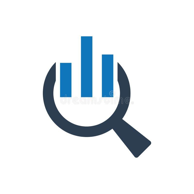 Icono de la investigación de datos ilustración del vector