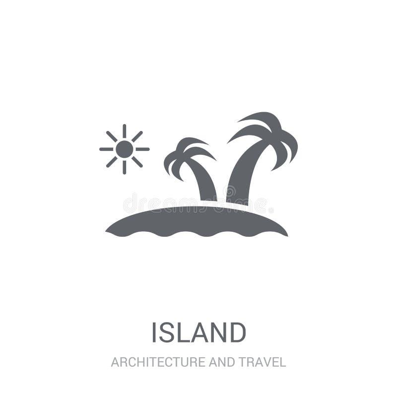 Icono de la isla  ilustración del vector