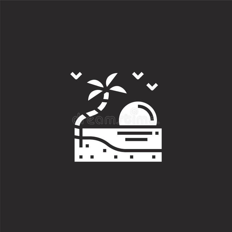 Icono de la isla Icono llenado de la isla para el diseño y el móvil, desarrollo de la página web del app icono de la isla de la c libre illustration