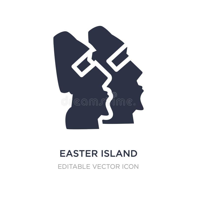 icono de la isla de pascua en el fondo blanco Ejemplo simple del elemento del concepto de los monumentos libre illustration