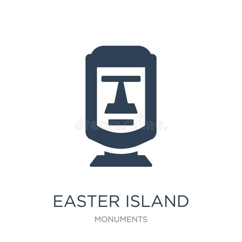 icono de la isla de pascua en estilo de moda del diseño icono de la isla de pascua aislado en el fondo blanco icono del vector de libre illustration