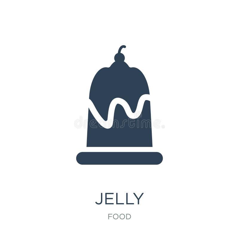 icono de la jalea en estilo de moda del diseño icono de la jalea aislado en el fondo blanco símbolo plano simple y moderno del ic ilustración del vector