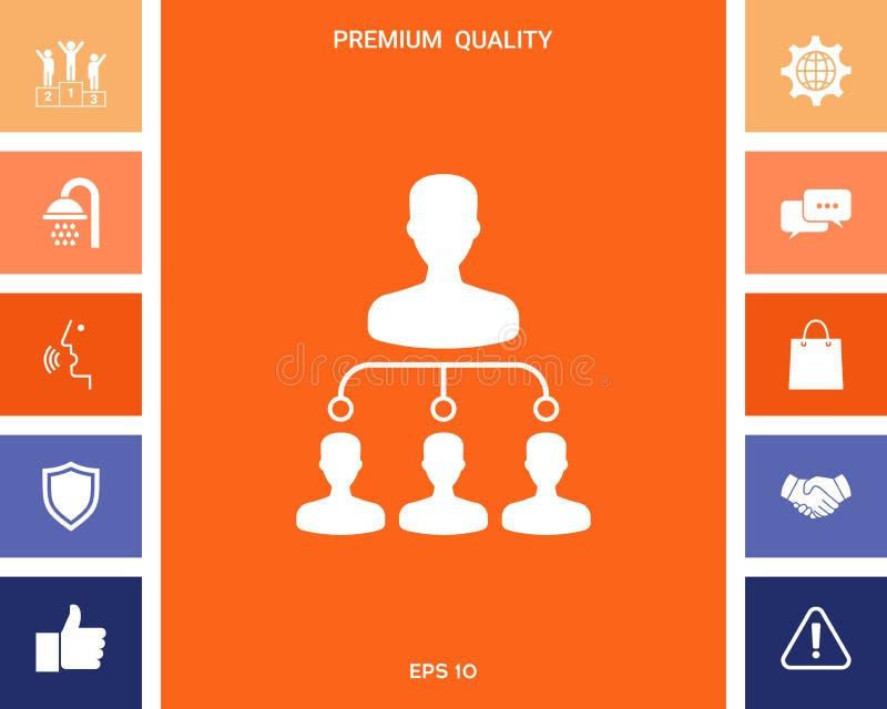 Icono de la jerarquía libre illustration