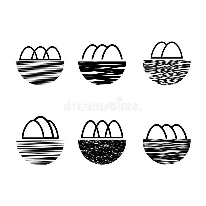 Icono de la jerarquía y de los huevos libre illustration