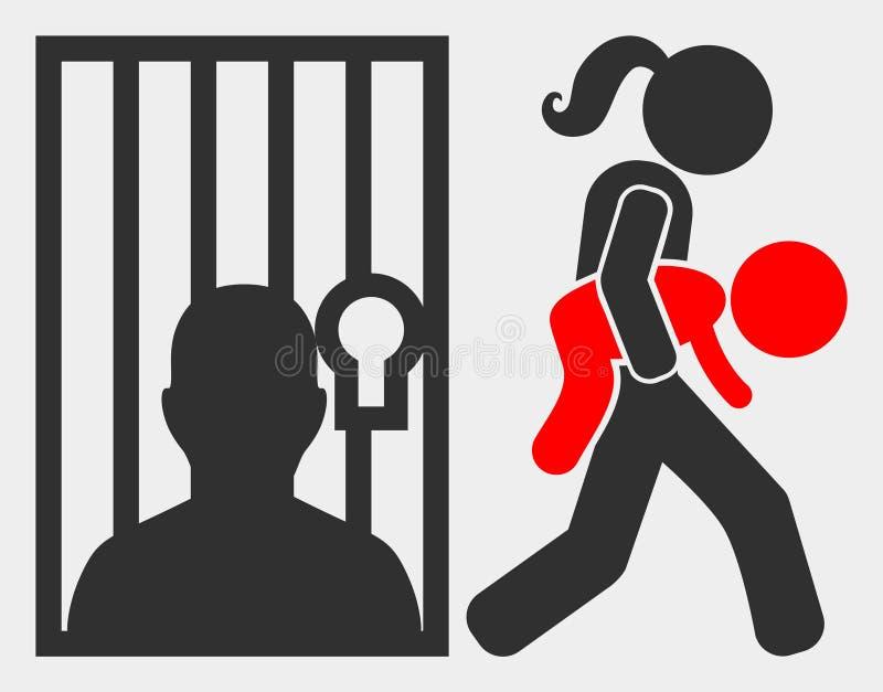 Icono de la justicia juvenil V2 de la trama en el fondo blanco ilustración del vector