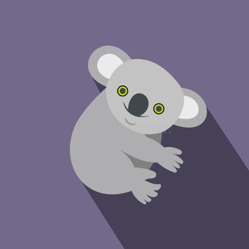 Icono de la koala, estilo plano libre illustration