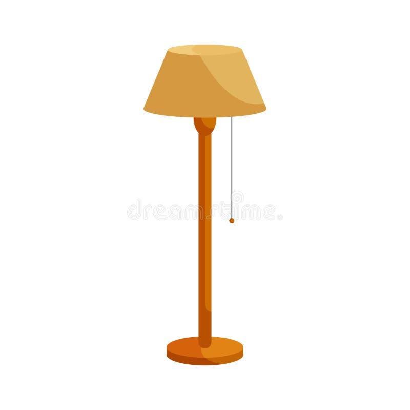 Icono de la lámpara de pie, estilo de la historieta ilustración del vector