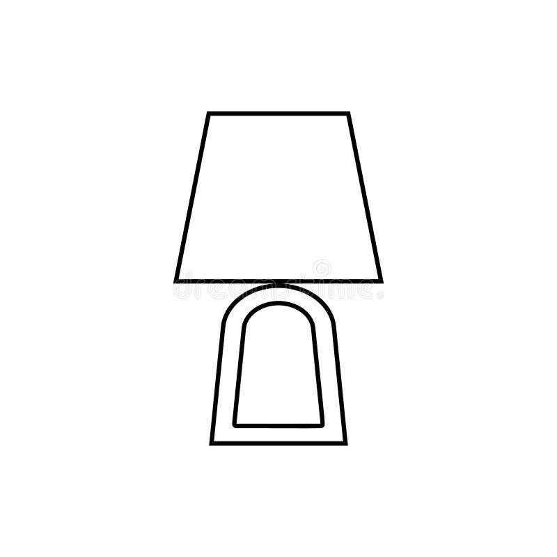 Icono de la lámpara Elemento de los muebles para el concepto y el icono móviles de los apps de la web Línea fina icono para el di libre illustration