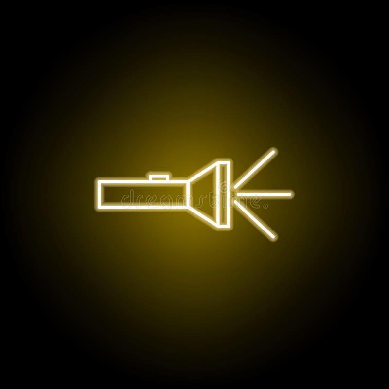 icono de la l?mpara en el estilo de ne?n Elemento del ejemplo del viaje Las muestras y los s?mbolos se pueden utilizar para la we libre illustration