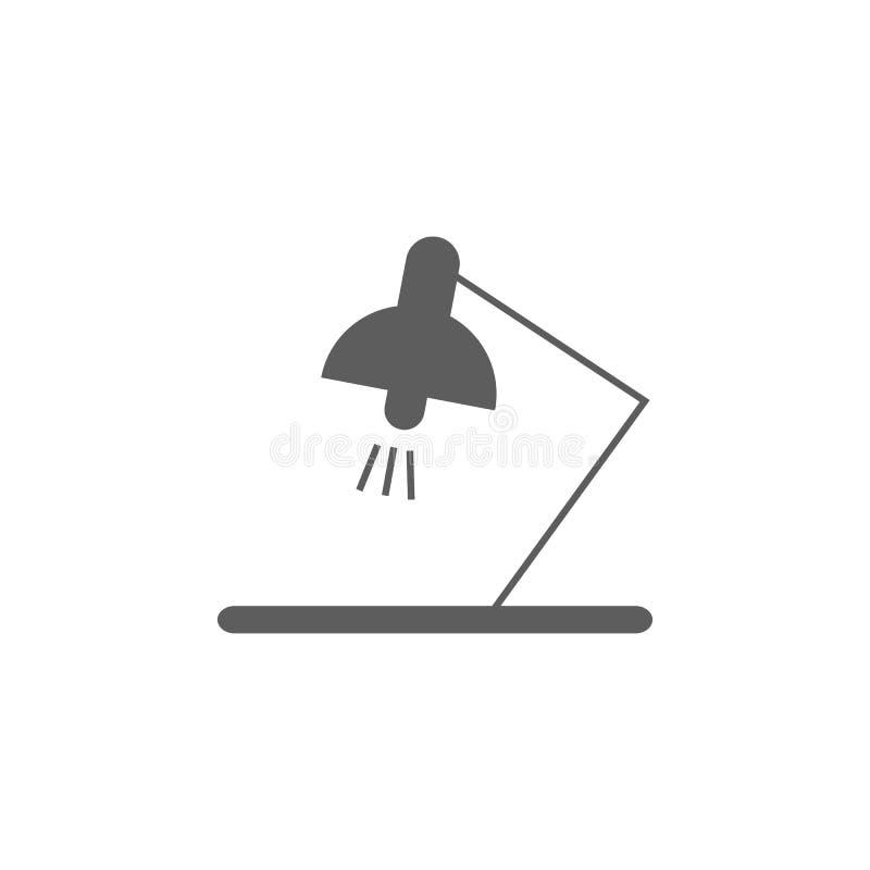 Icono de la lámpara de mesa Elemento del icono de la educación Icono superior del diseño gráfico de la calidad Muestras, icono de ilustración del vector