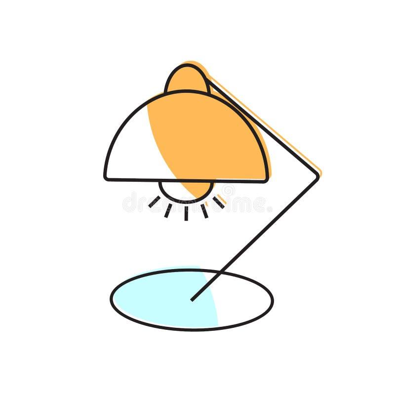 Icono de la l?mpara Elemento de la escuela para el dise?o ilustración del vector