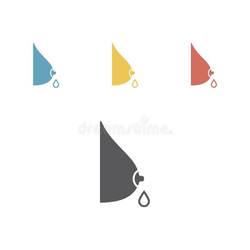 Icono de la lactancia, leche materna, gráficos de vector stock de ilustración