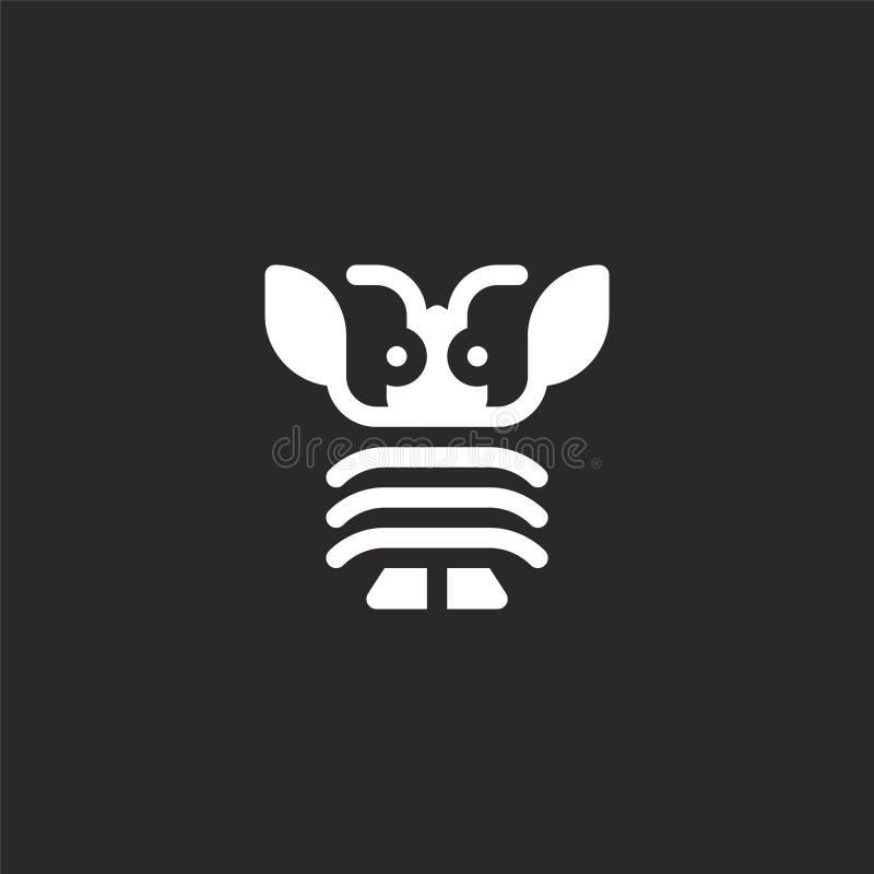 Icono de la langosta Icono llenado de la langosta para el diseño y el móvil, desarrollo de la página web del app icono de la lang libre illustration