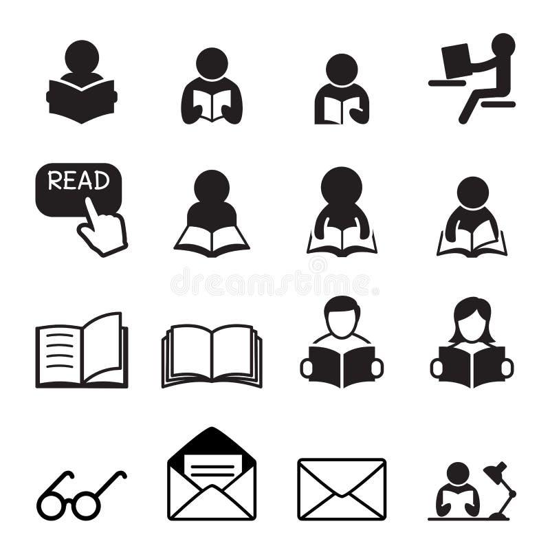 Icono de la lectura ilustración del vector