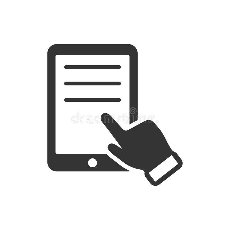 Icono de la lectura de la tableta ilustración del vector