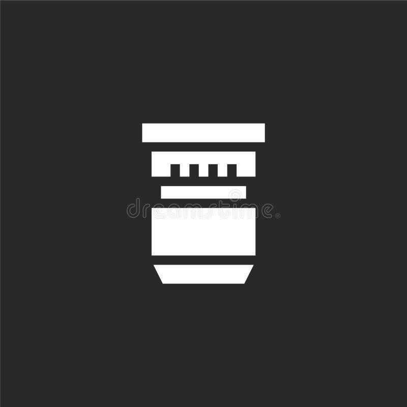 icono de la lente Icono llenado de la lente para el diseño y el móvil, desarrollo de la página web del app icono de la lente de l ilustración del vector