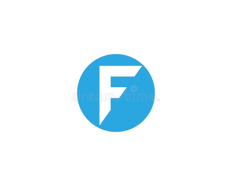 Icono de la letra de F stock de ilustración