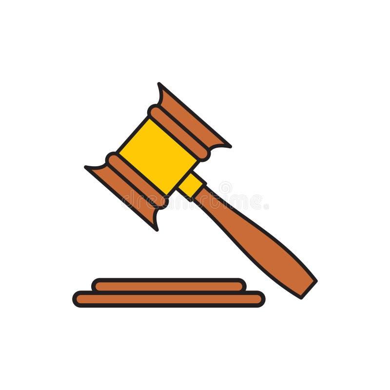 Icono de la ley de finanzas en el fondo blanco para el gráfico y el diseño web, muestra simple moderna del vector Concepto del In libre illustration