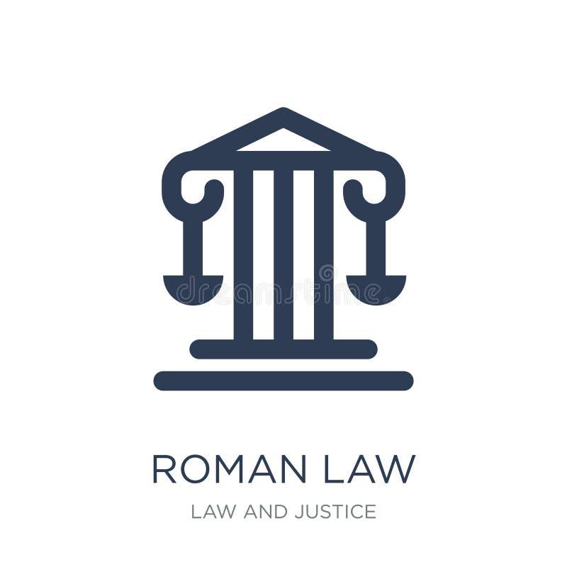 icono de la ley romana Icono plano de moda de la ley romana del vector en el backg blanco ilustración del vector