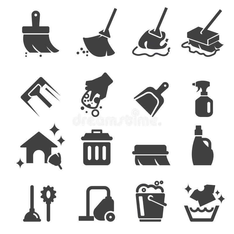 Icono de la limpieza ilustración del vector
