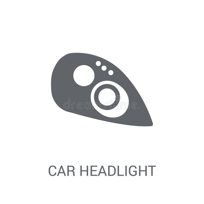 Icono de la linterna del coche  stock de ilustración
