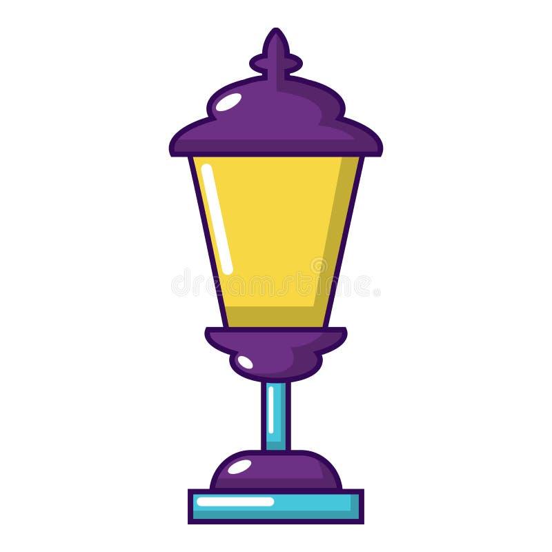 Icono de la linterna, estilo de la historieta ilustración del vector