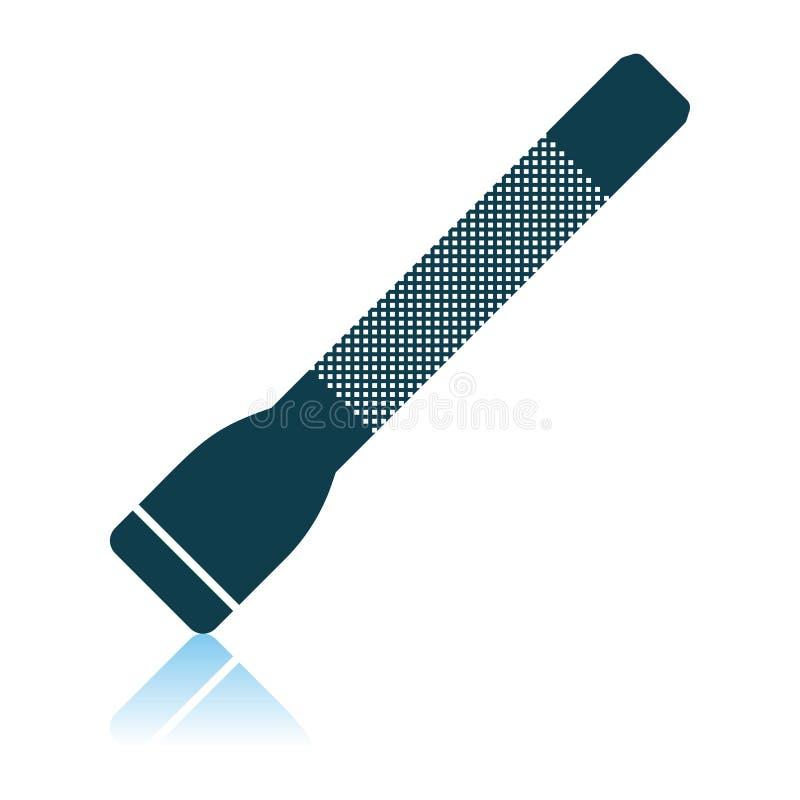 Icono de la linterna de la polic?a stock de ilustración