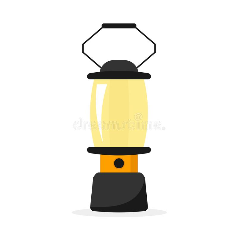 Icono de la linterna que acampa ilustración del vector