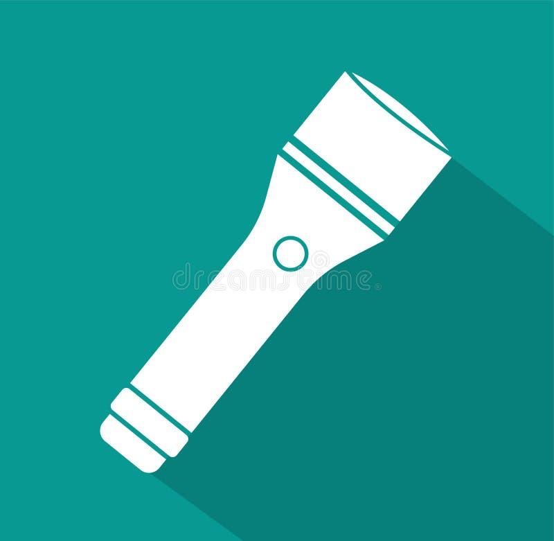 Icono de la linterna símbolo de la muestra del vector ilustración del vector