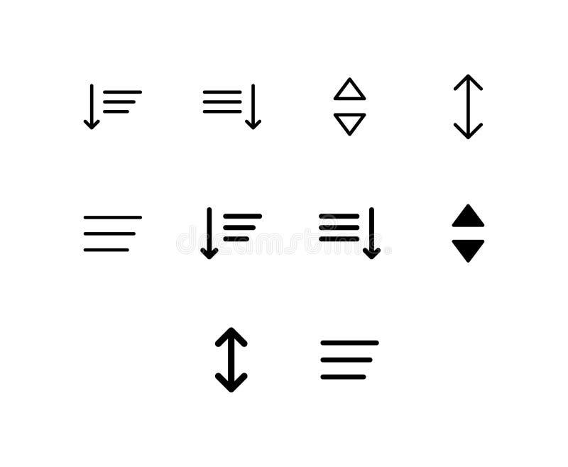 Icono de la lista aislado en el fondo blanco ilustración del vector