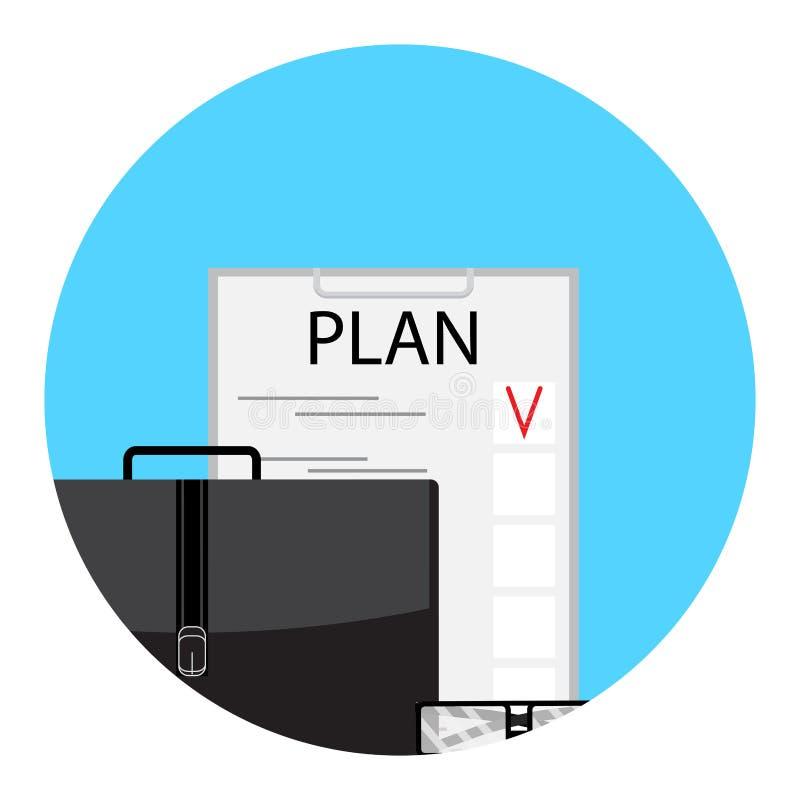 Icono de la lista de lío del planeamiento stock de ilustración