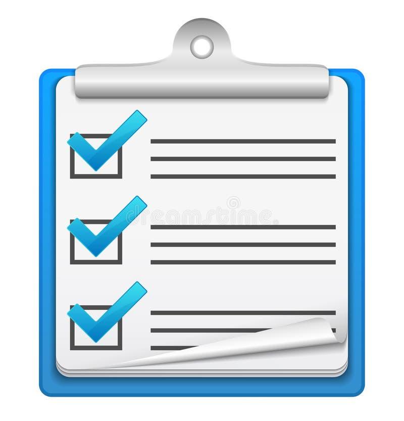 Icono de la lista de verificación ilustración del vector