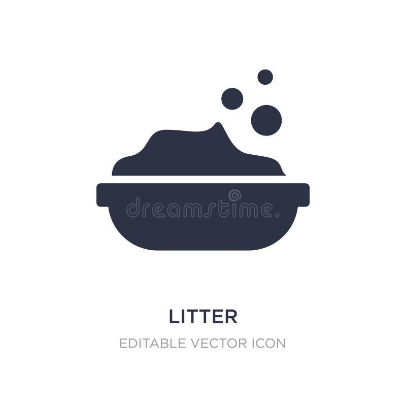 icono de la litera en el fondo blanco Ejemplo simple del elemento del concepto de los animales stock de ilustración