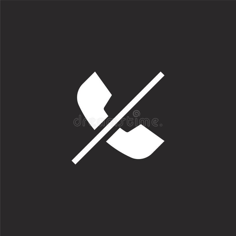 Icono de la llamada de tel?fono Icono llenado de la llamada de teléfono para el diseño y el móvil, desarrollo de la página web de stock de ilustración
