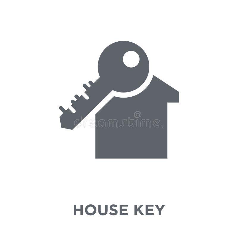 Icono de la llave de la casa de la colección ilustración del vector