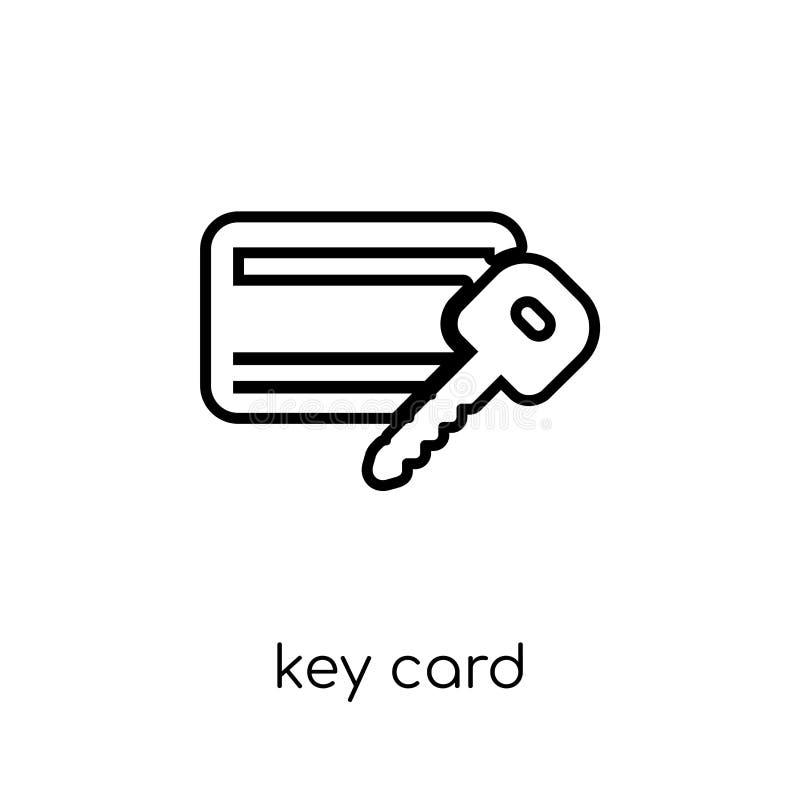 Icono de la llave electrónica Icono linear plano moderno de moda de la llave electrónica del vector encendido stock de ilustración