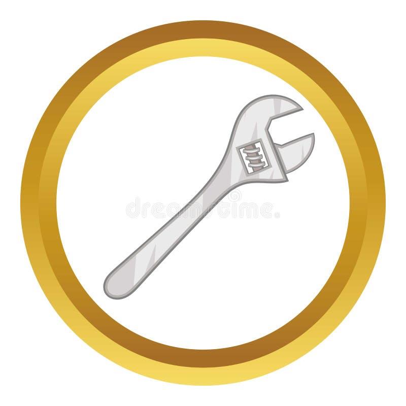 Icono de la llave inglesa ajustable de la llave libre illustration