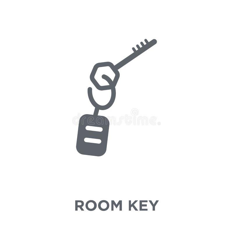 Icono de la llave de sitio de la colección del hotel ilustración del vector