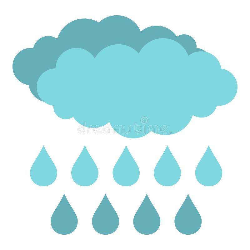 Icono de la lluvia aislado libre illustration