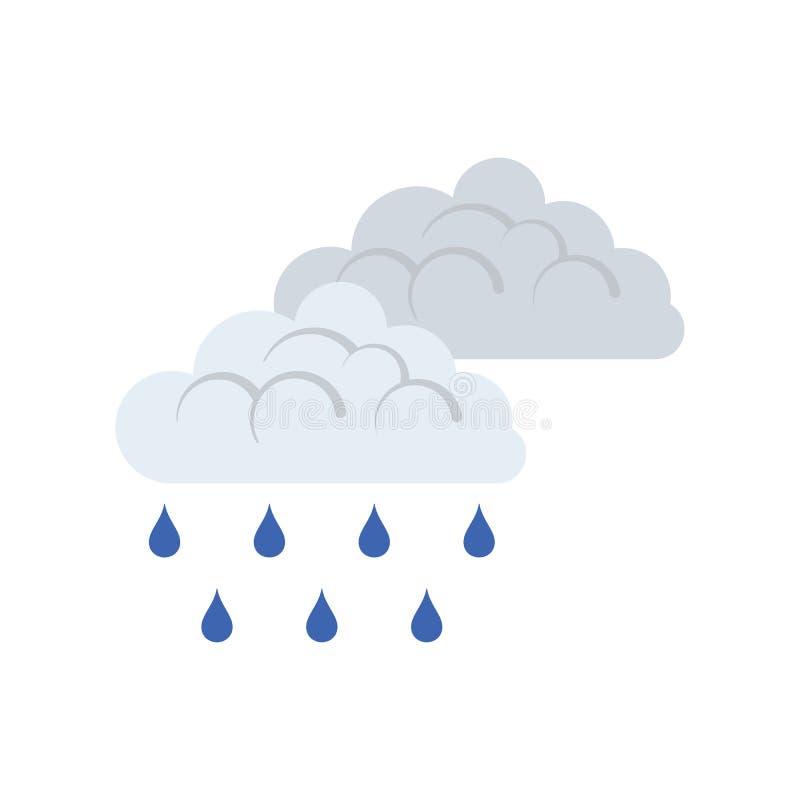 Icono de la lluvia ilustración del vector