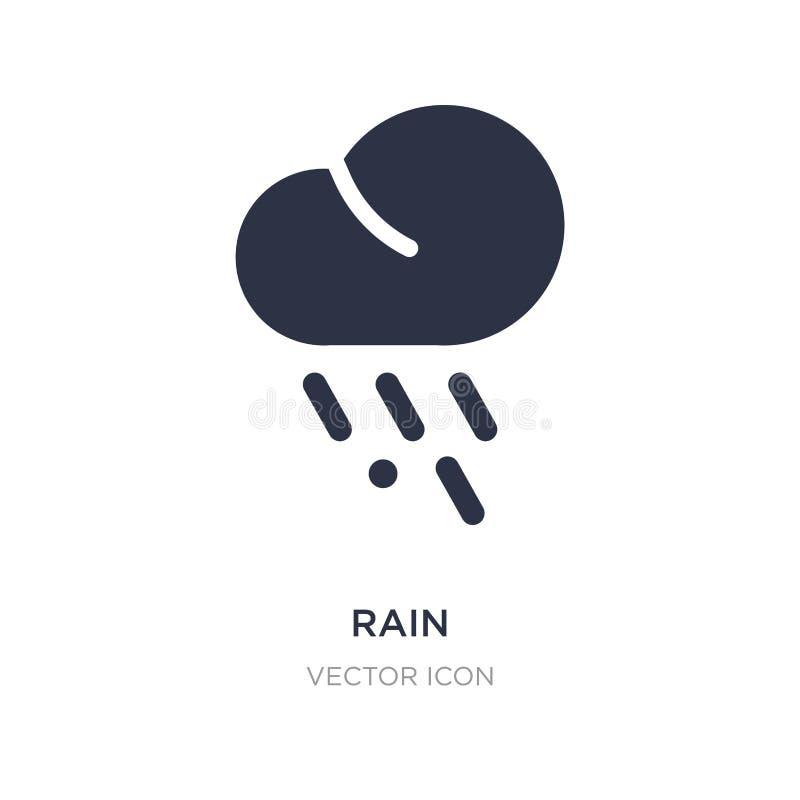 Icono de la lluvia en el fondo blanco Ejemplo simple del elemento del concepto del otoño ilustración del vector