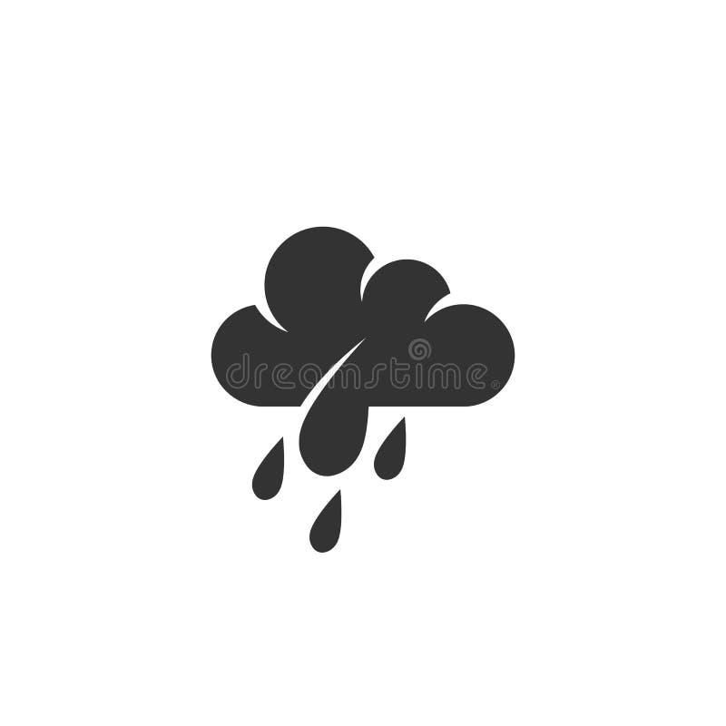 Icono de la lluvia Logotipo del vector en el fondo blanco ilustración del vector