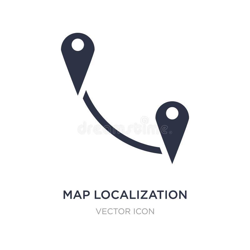 Icono de la localización del mapa en el fondo blanco Ejemplo simple del elemento del concepto de los mapas y de las banderas ilustración del vector