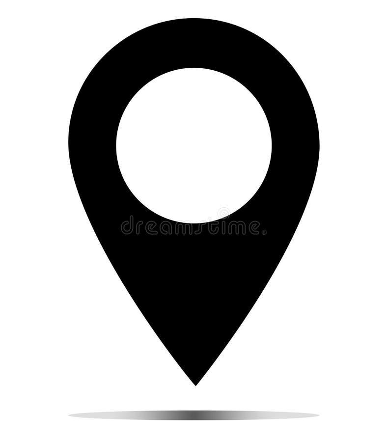 Icono de la localización del mapa en el fondo blanco Muestra del correo Estilo plano icono para su diseño del sitio web, logotipo ilustración del vector