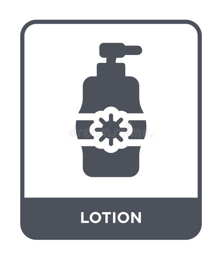 icono de la loción en estilo de moda del diseño icono de la loción aislado en el fondo blanco símbolo plano simple y moderno del  ilustración del vector