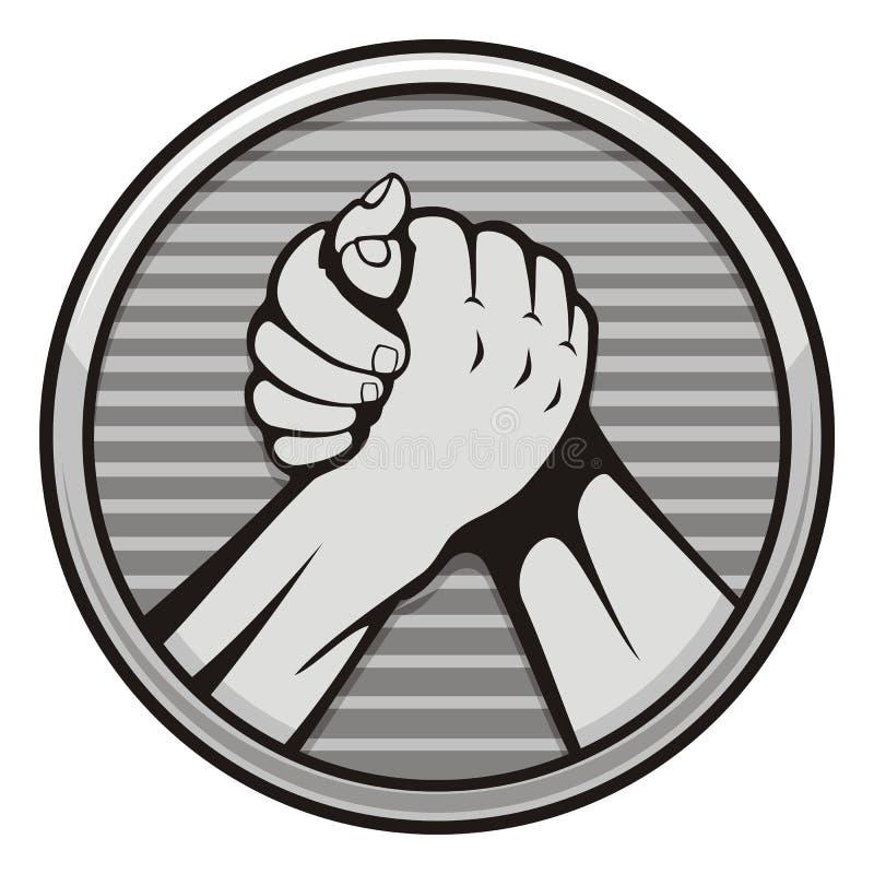 Icono de la lucha de brazo libre illustration