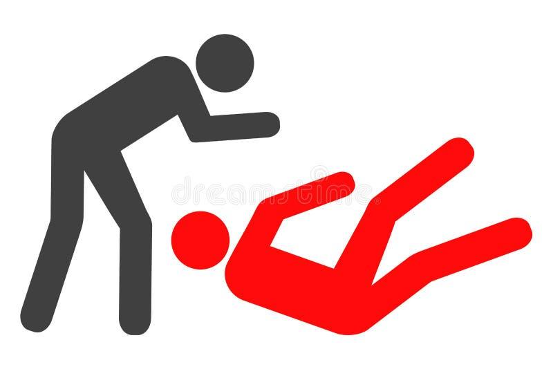 Icono de la lucha del judo del vector ilustración del vector