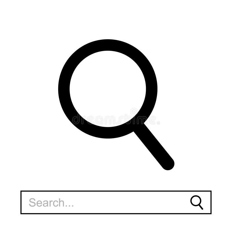Icono de la lupa del vector ilustración del vector