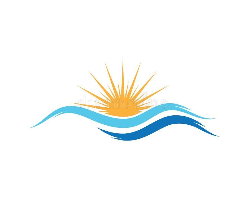 icono de la luz de logotipo del sol ilustración del vector