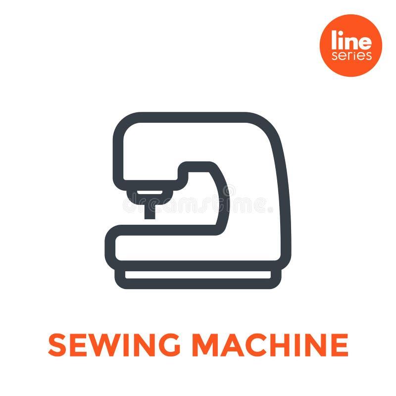 Icono de la máquina de coser en blanco libre illustration